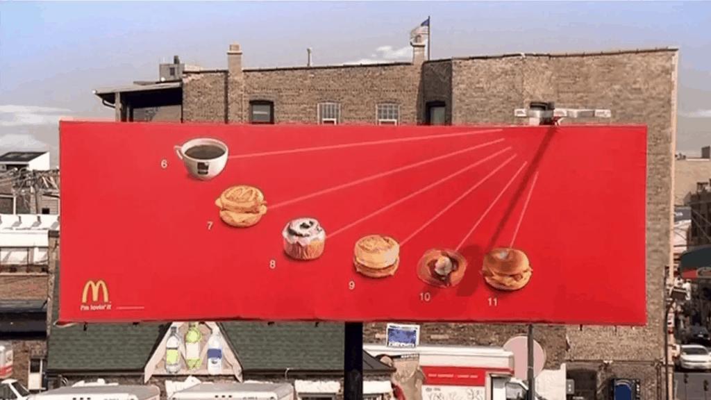 McDonald's outdoor advertising