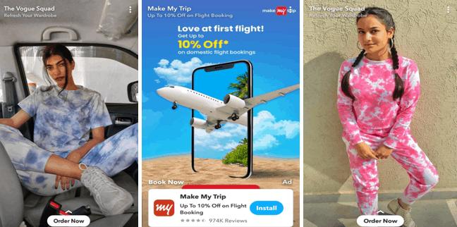 Snapchat sponsored stories