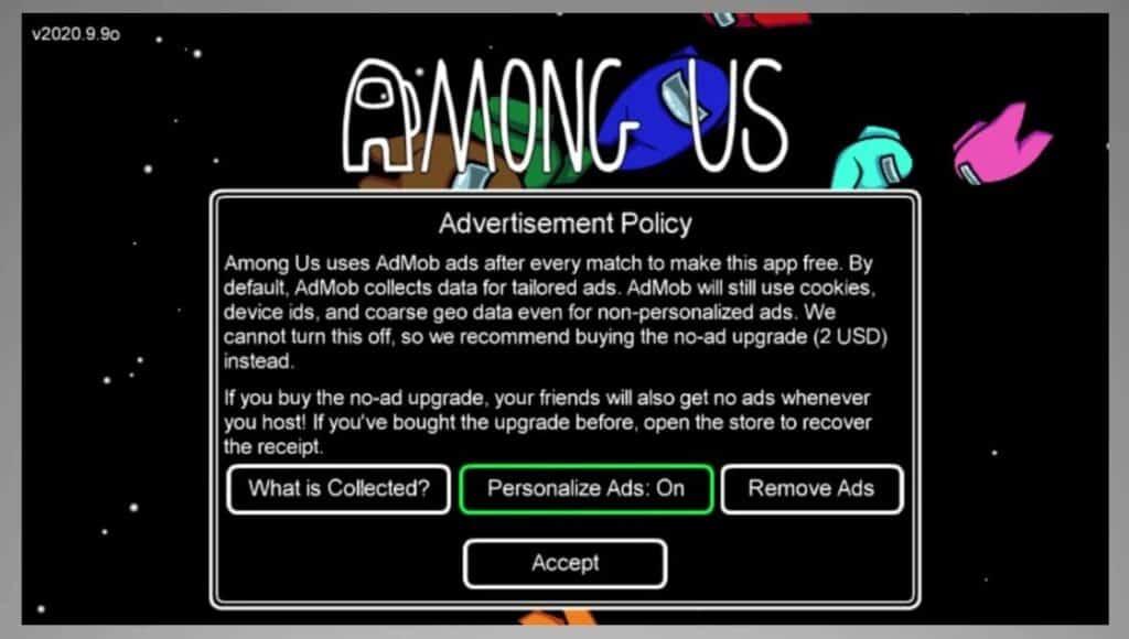 among us advertisements