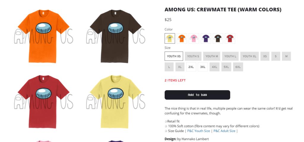 among us merchandise