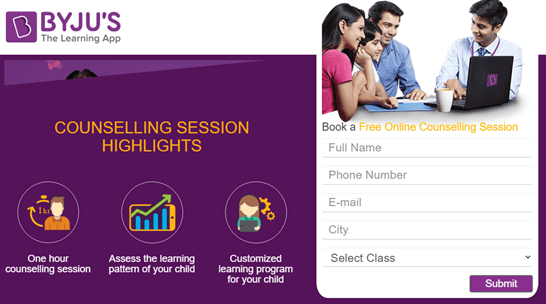 Byju's counselling