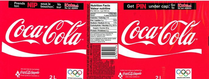 soda product labelling