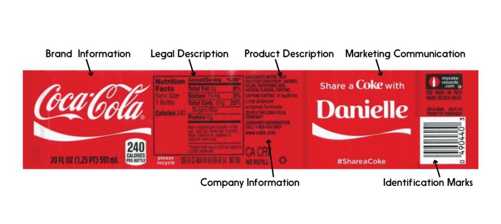 coca-cola product label