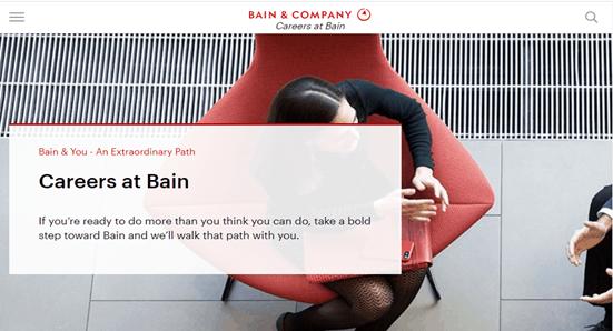 Bain & Company employer branding