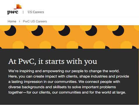 PWC employer branding