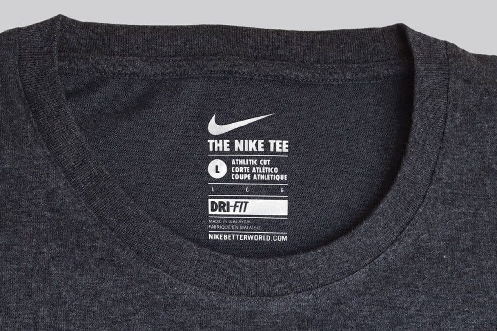 t-shirt product labelling
