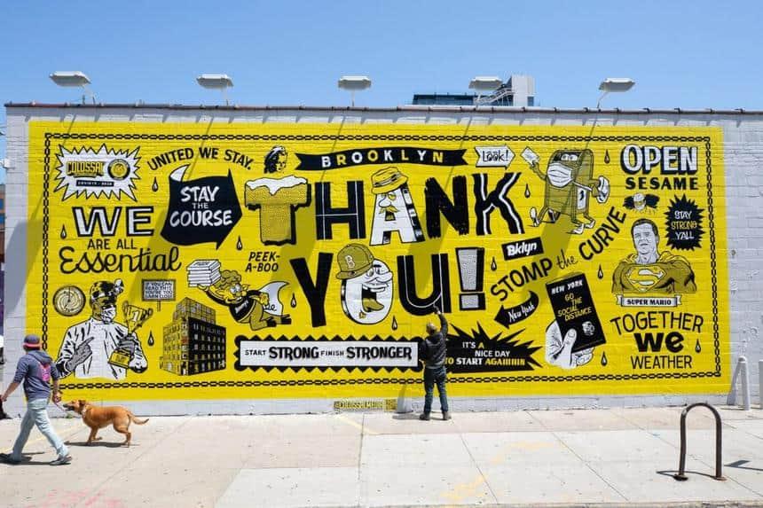 painted billboard advertising