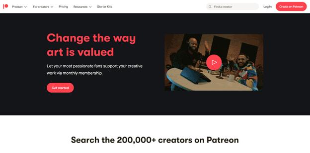 Patreon startup story