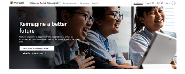Microsoft corporate social responsibility